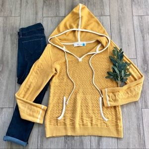 Anthropologie Sparrow Hoodie Sweater Yellow Gold